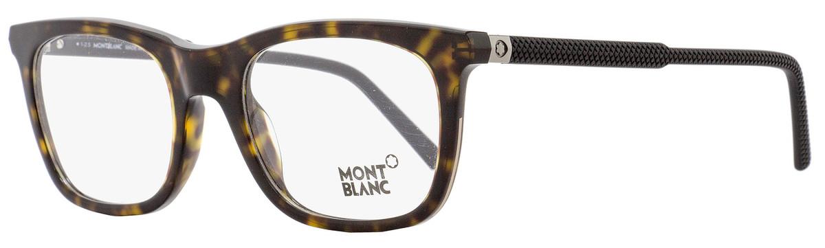 4f6c12048a Montblanc Rectangular Eyeglasses MB610 056 Size  53mm Havana ...