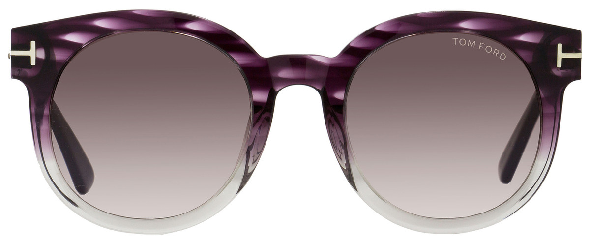 30dc2dcb93f06 Tom Ford Oval Sunglasses TF435 Janina 83T Violet Melange Ruthenium FT0435