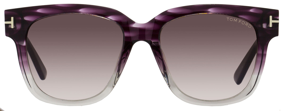 df4e5f7da431 Tom Ford Square Sunglasses TF436F Tracy 83T Violet Melange Ruthenium FT0436