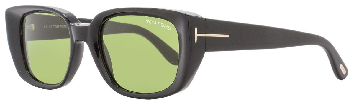 c498a6ad1e45 Tom Ford Rectangular Sunglasses TF492 Raphael 01N Shiny Black ...