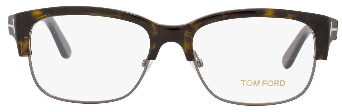 039f01d903966 Tom Ford Rectangular Eyeglasses TF5307 053 Size  52mm Shiny Havana Ruthenium  FT5307