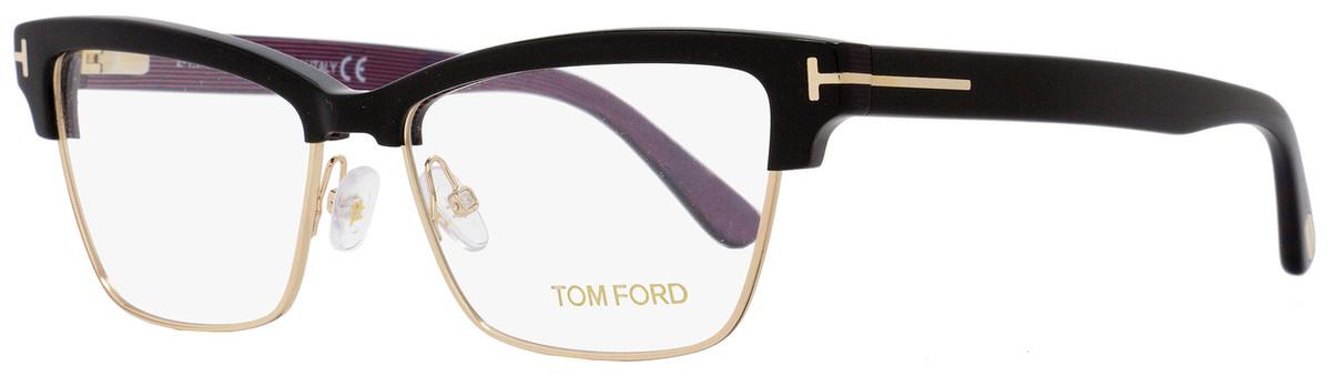 f0444e561bfe7 Your cart.  0.00. Check out Edit cart · Home   Eyeglasses   Tom Ford   Tom  Ford Rectangular Eyeglasses TF5364 005 Size  53mm Black Gold FT5364