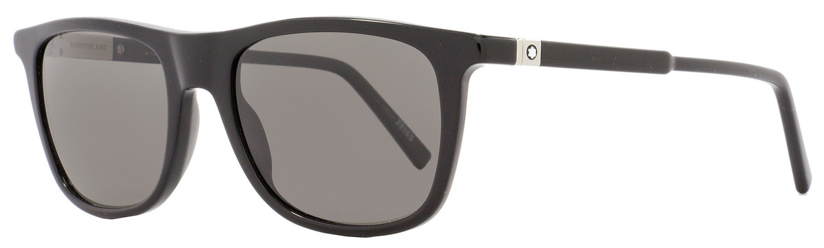 20aea5d0b7f Montblanc Rectangular Sunglasses MB647S 01D Shiny Black ...