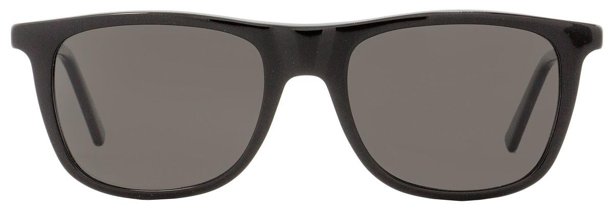 f38b26b8f7b Montblanc Rectangular Sunglasses MB647S 01D Shiny Black Polarized 647