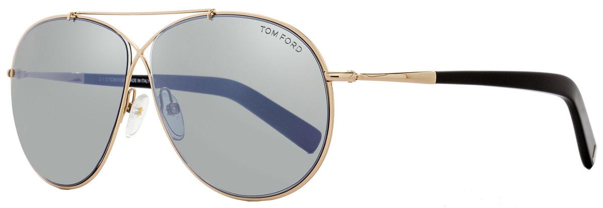 0ad4a00ced Tom Ford Aviator Sunglasses TF374 Eva 28Q Rose Gold Black FT0374