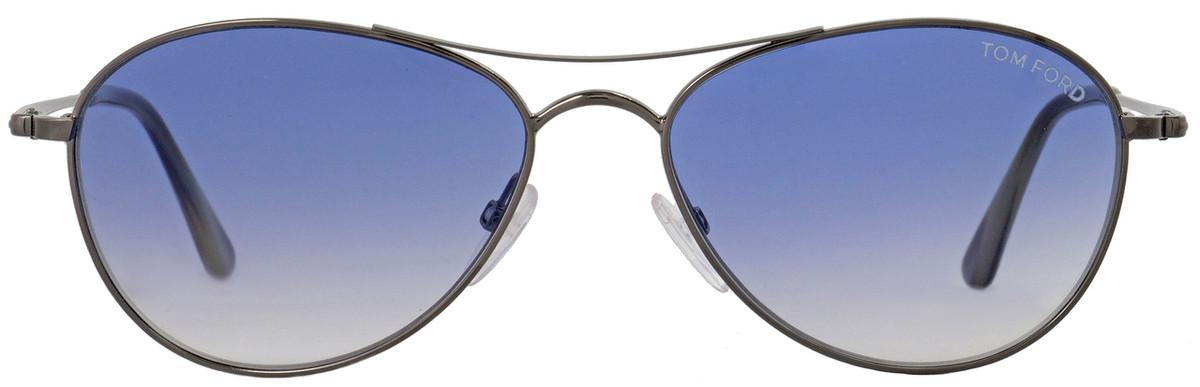cb324d203b9 Tom Ford Oval Sunglasses TF495 Oliver 12W Dark Ruthenium Horn FT0495