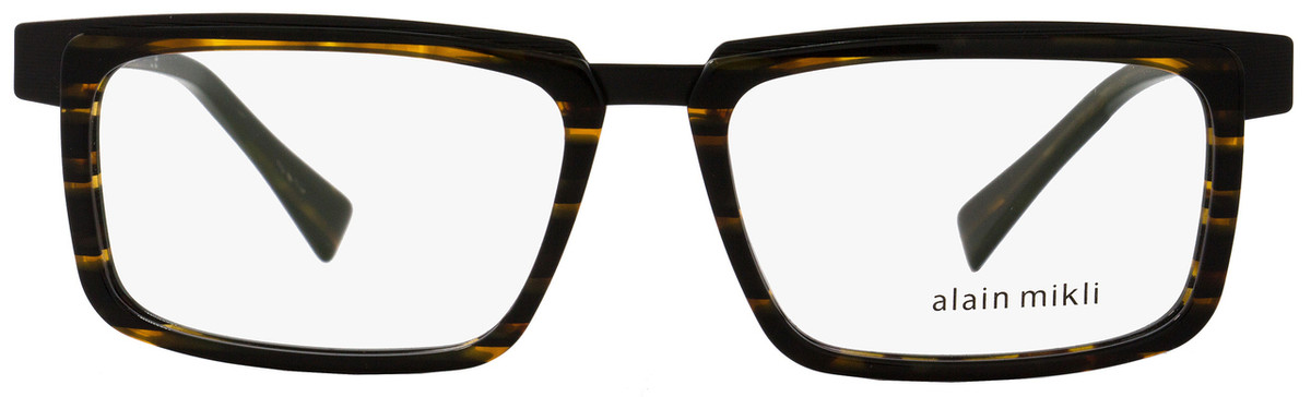 805722be80 Alain Mikli Rectangular Eyeglasses A02016 2890 Size  54mm Brown Striped  Black 2016