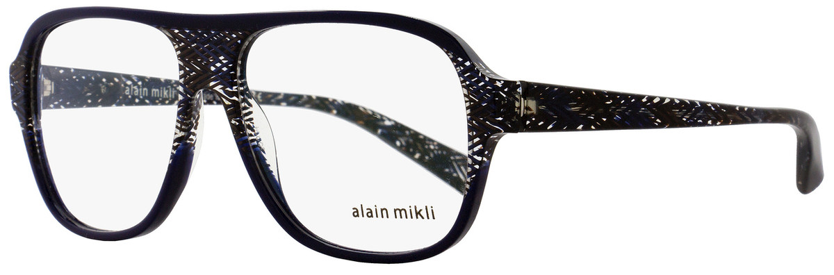 1ff6fdf6c6 Alain Mikli Square Eyeglasses A03051 E016 Size  56mm Blue Brown ...