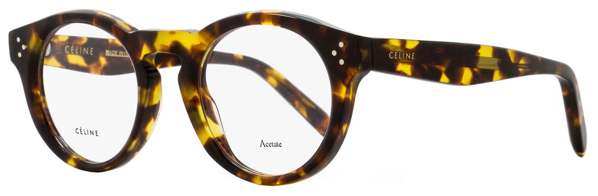 589faf010c9c Celine Oval Eyeglasses CL41381 E88 Size  47mm Blonde Tortoise ...