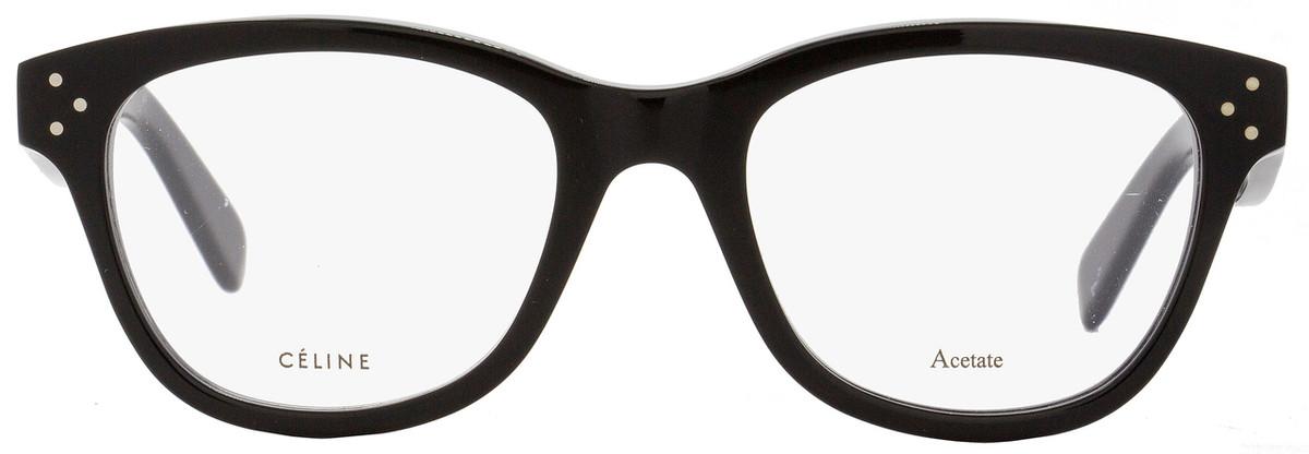 38d7ae2a24cd5 Celine Oval Eyeglasses CL41409 807 Size  49mm Black 41409