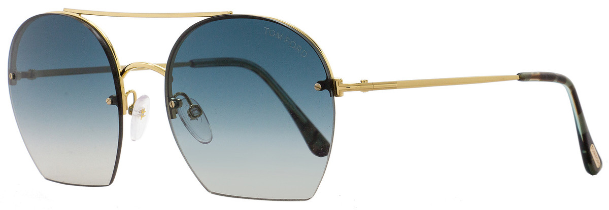 79d30146aef Tom Ford Oval Sunglasses TF506 Antonia 28W Gold Turqouise Havana FT0506