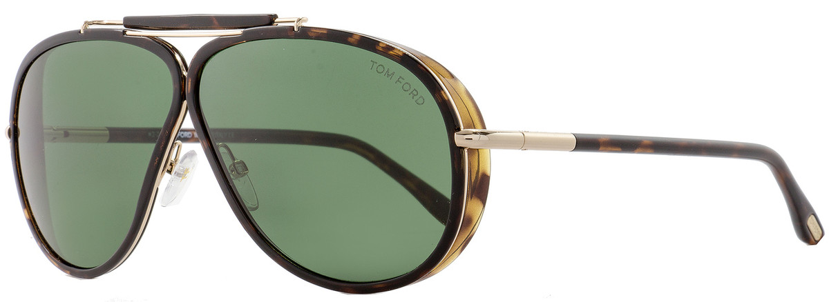 40b10a61d4caf Tom Ford Aviator Sunglasses TF509 Cedric 52N Dark Havana Gold ...