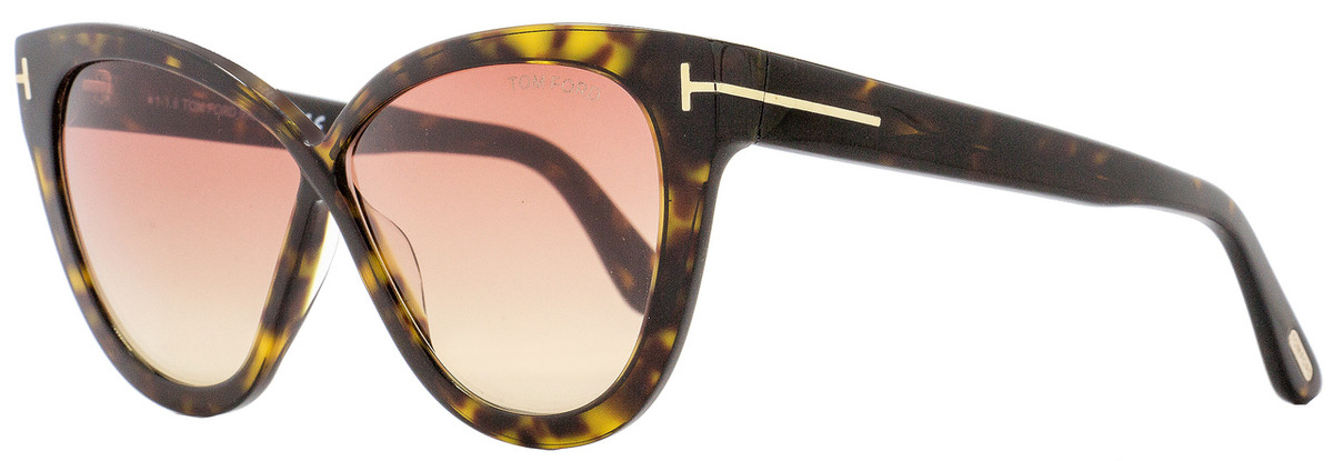 d5f32635b1 Tom Ford Butterfly Sunglasses TF511 Arabella 52B Dark Havana Gold ...