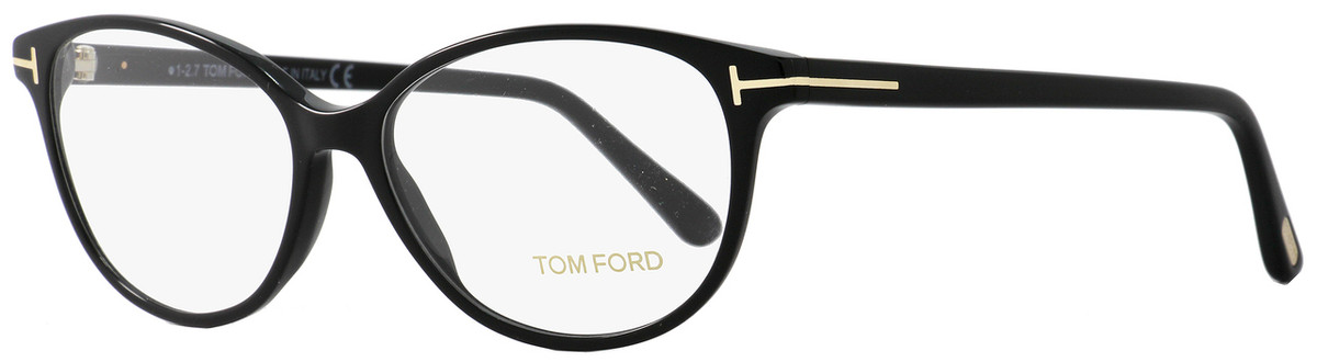 79d52ca00fc3 Your cart.  0.00. Check out Edit cart · Home   Eyeglasses   Tom Ford   Tom  Ford Oval Eyeglasses TF5421 001 Size  53mm Black Gold FT5421