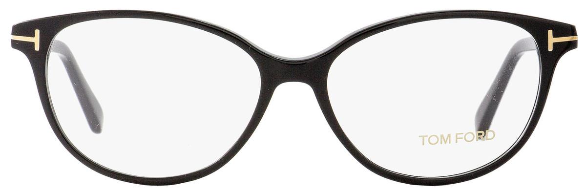 52c44a40ba36 Tom Ford Oval Eyeglasses TF5421 001 Size  53mm Black Gold FT5421