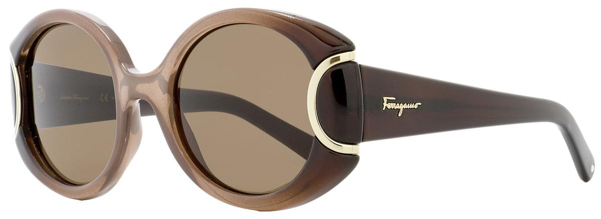 24e1a722544 Salvatore Ferragamo Round Sunglasses SF811S 212 Brown Gradient ...