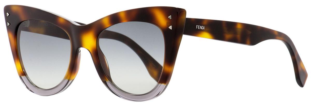 0d7c0bc9f022c Fendi Cateye Sunglasses FF0238S AB89O Havana Transparent Gray ...
