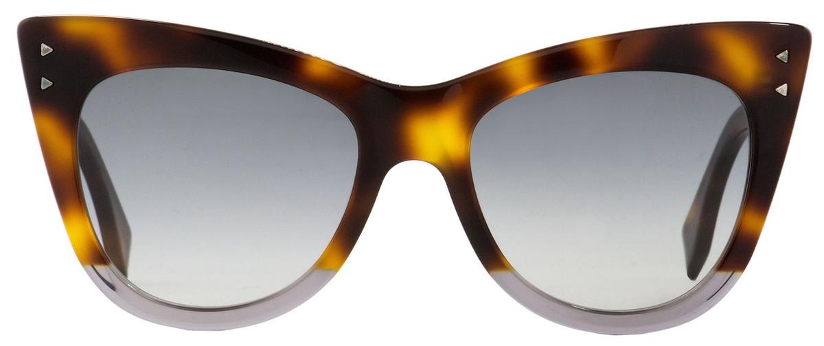 d851daa44909a Fendi Cateye Sunglasses FF0238S AB89O Havana Transparent Gray 52mm 238