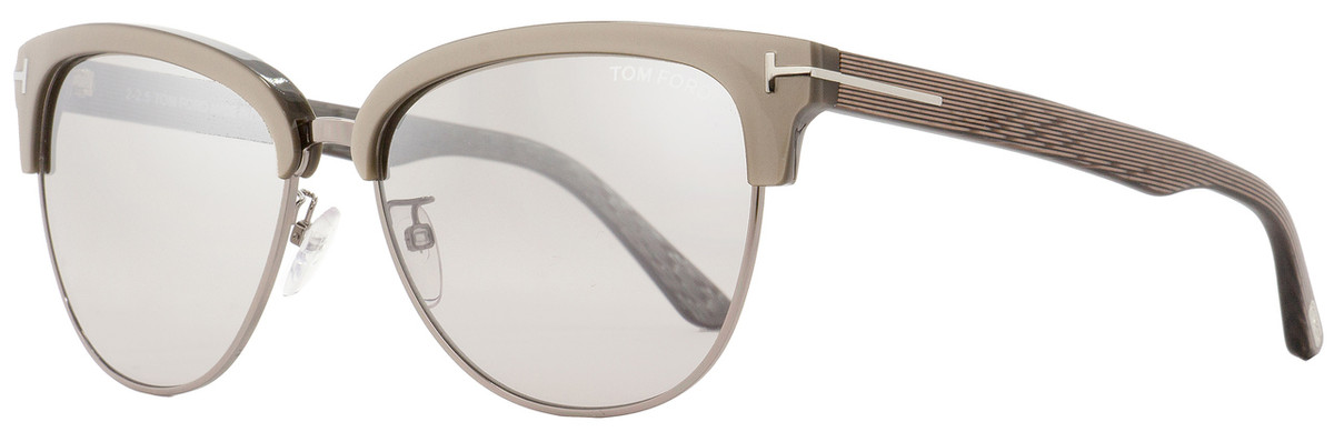 fcce0a0c69 Tom Ford Oval Sunglasses TF368 Fany 57G Dove Gray Ruthenium ...