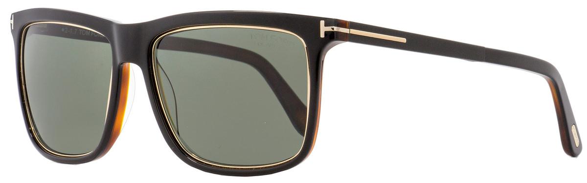 1b6e2b3e9d7 Tom Ford Rectangular Sunglasses TF392 Karlie 01R Black Gold ...
