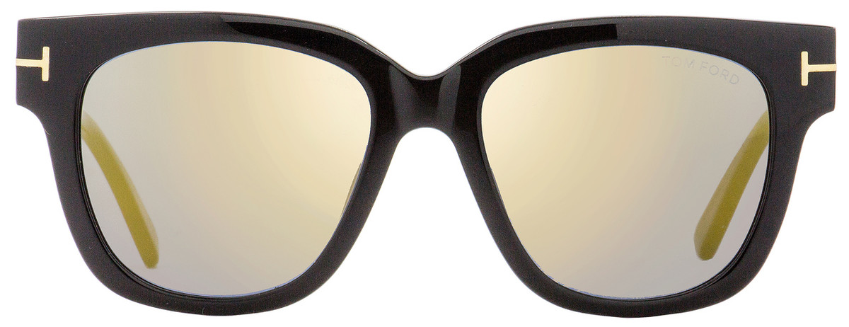 9f26f08e4c0a Tom Ford Square Sunglasses TF436 Tracy 01C Black Gold 53mm FT0436