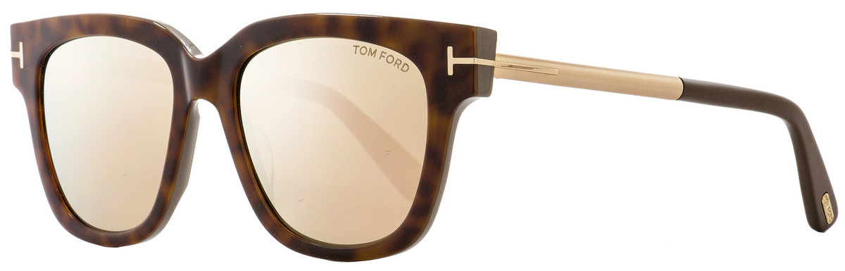 a9591db834ac Tom Ford Square Sunglasses TF436 Tracy 56G Havana Gold Gray 53mm FT0436