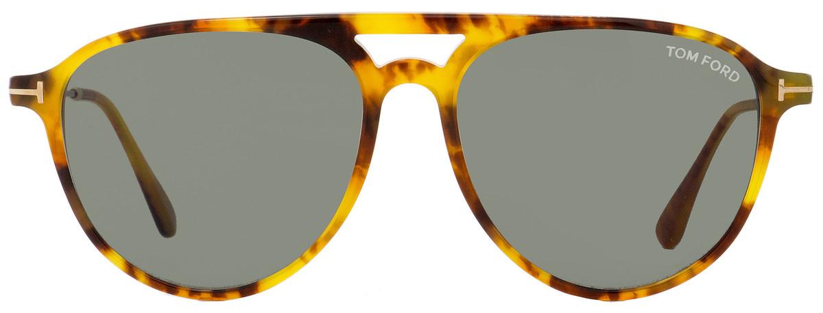 1b9cbb551effe Tom Ford Aviator Sunglasses TF587 Carlo-02 55N Light Havana Gold 58mm FT0587