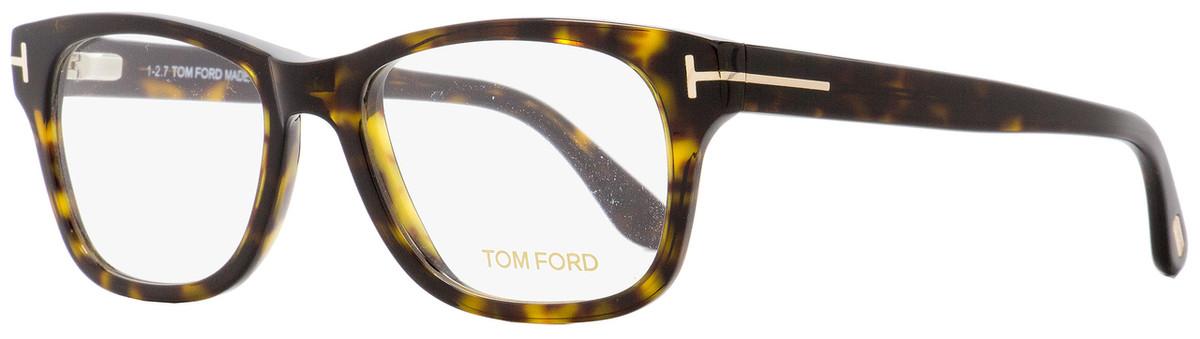 3fea10b9564 Tom Ford Rectangular Eyeglasses TF5147 052 Havana Gold 52mm ...