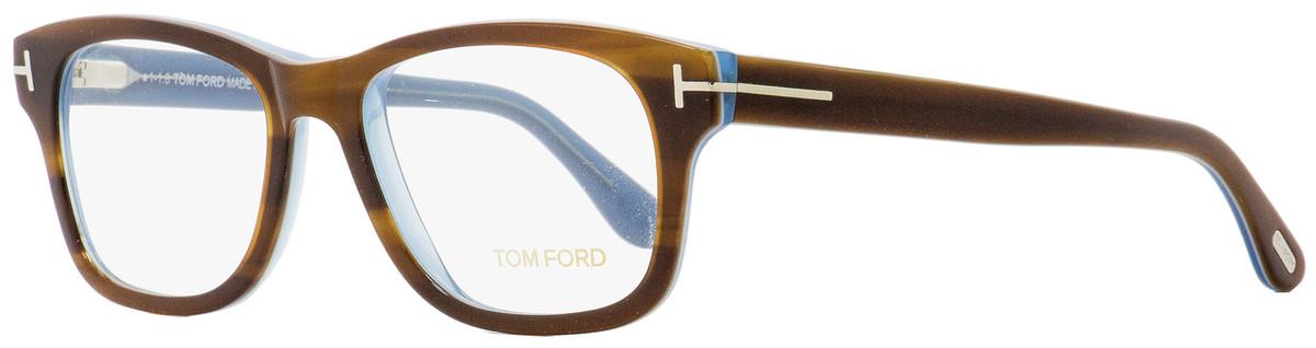 21694f289f130 Tom Ford Rectangular Eyeglasses TF5147 056 Striped Havana Light ...