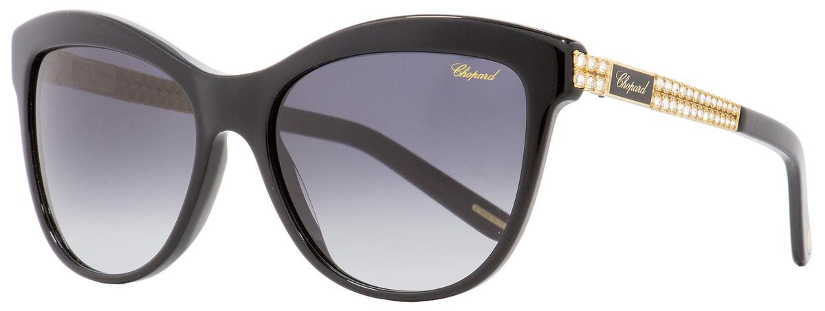 eaa507884873 Chopard Cateye Sunglasses SCH189S 700F Black Gold 55mm 189