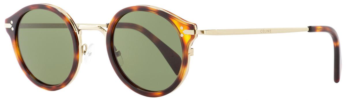 111d97981d41 Celine Round Sunglasses CL41082S 3UA1E Gold Havana 46mm ...