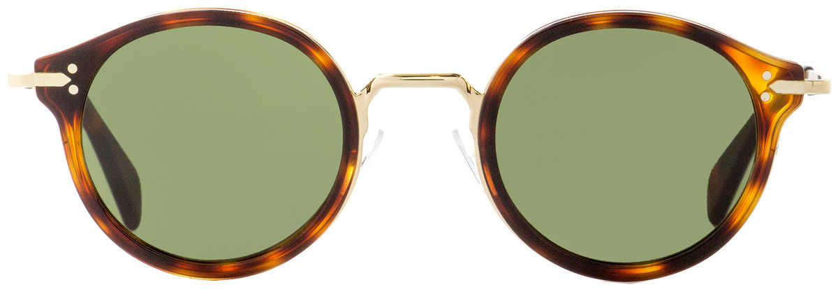 050cf9b1927 Celine Round Sunglasses CL41082S 3UA1E Gold Havana 46mm 41082