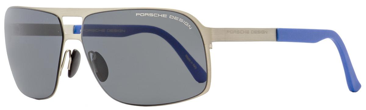 7bff22ccb66dea Porsche Design Rectangular Sunglasses P8579 C Satin Ruthenium ...
