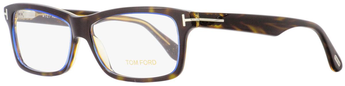 de07cd62b40 Your cart.  0.00. Check out Edit cart · Home   Eyeglasses   Tom Ford   Tom  Ford Rectangular Eyeglasses TF5146 56B Havana Blue ...