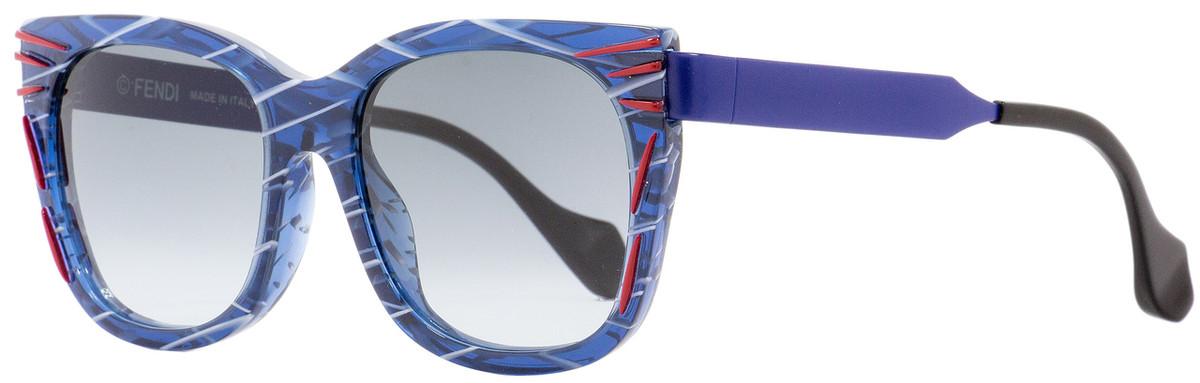 0f617363939a Fendi Square Sunglasses FF0180S Kinky VDNJJ Patterned Blue ...