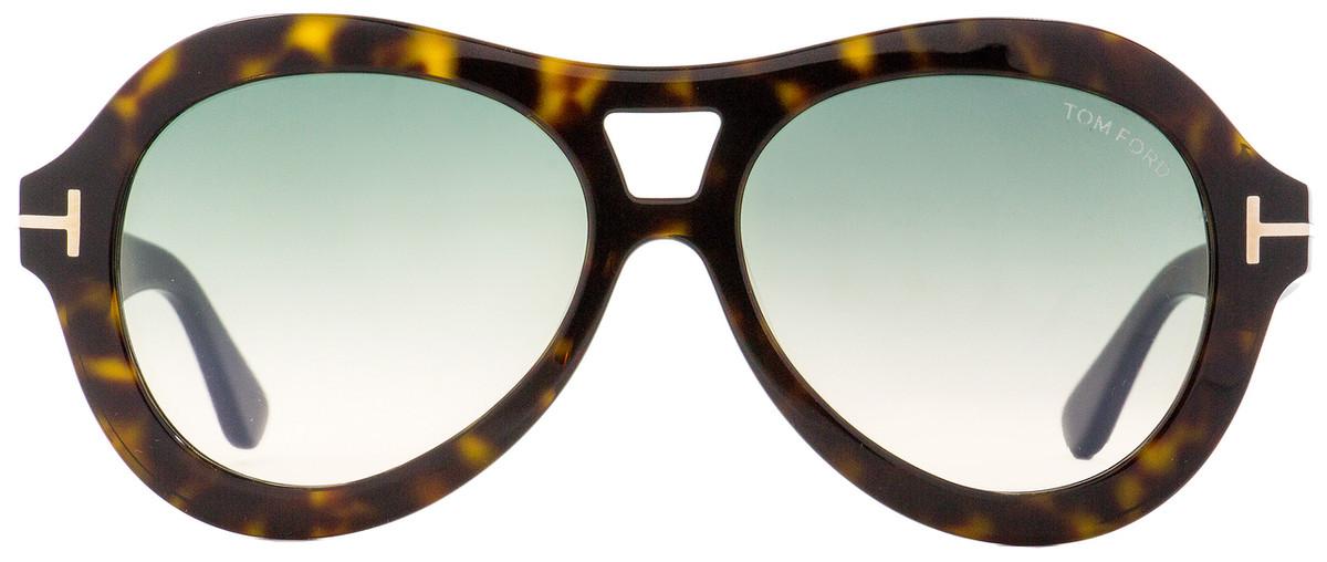 a72c484007c6 Tom Ford Oval Sunglasses TF514 Isla 52W Dark Havana 56mm FT0514