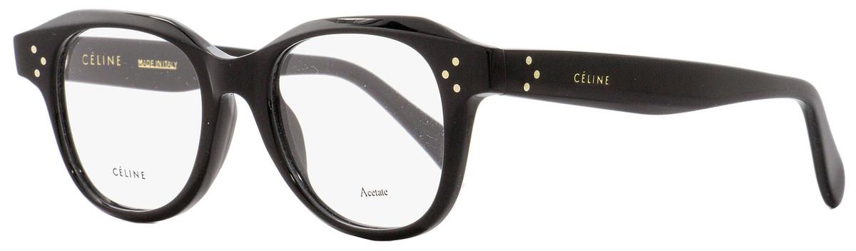 68187a830b Celine Oval Eyeglasses CL41457 807 Black 47mm 41457