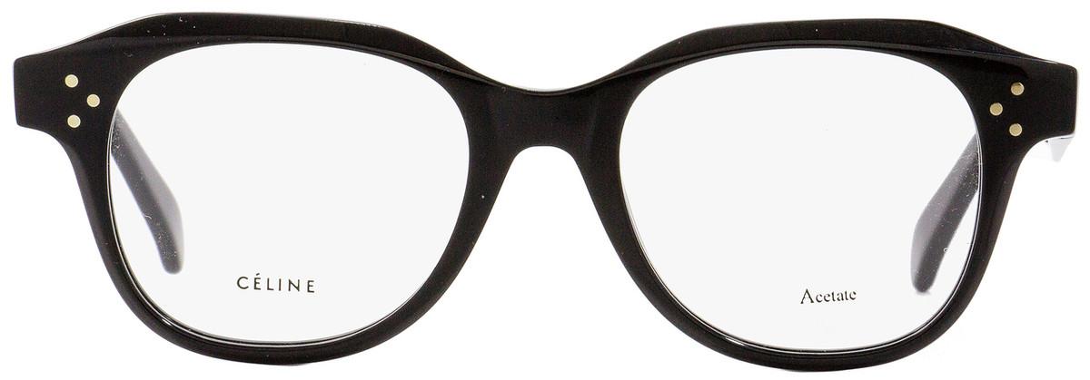 fec03e654c295 Celine Oval Eyeglasses CL41457 807 Black 47mm 41457