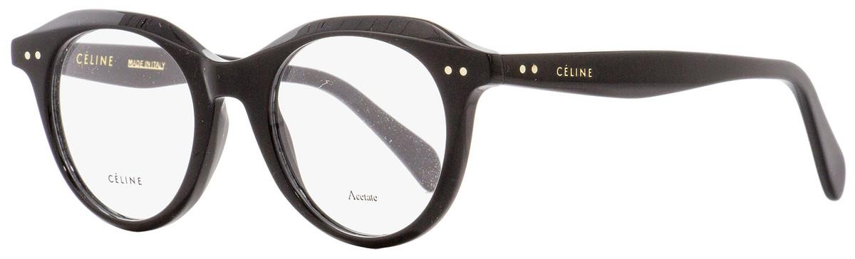 d5eafff2a1 Celine Oval Eyeglasses CL41458 807 Black 45mm 41458