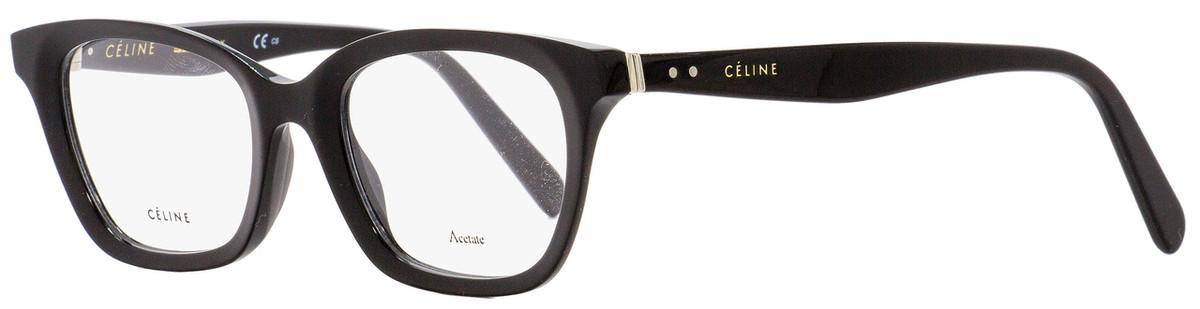b9e8ae75de Celine Rectangular Eyeglasses CL41465 807 Black 48mm 41465