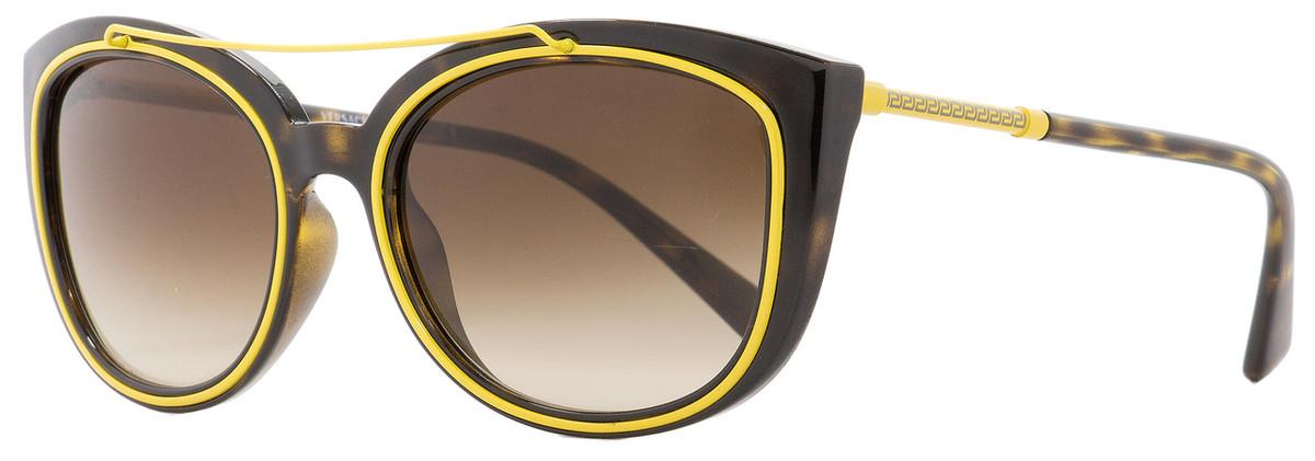 dfc48c518955 Versace Oval Sunglasses VE4336 108-13 Havana Yellow 56mm 4336