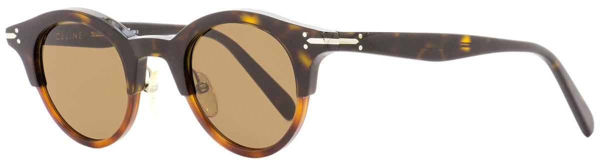 bf7fec8697a3 Celine Oval Sunglasses CL41395S T6UA6 Dark Light Havana 45mm ...