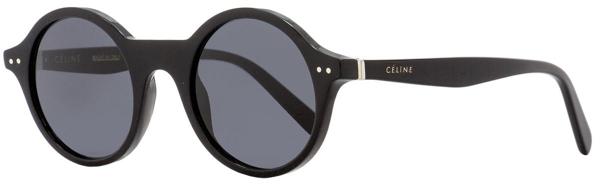 3d3914df4eb7 Celine Round Sunglasses CL41434S 807IR Black 48mm 41434