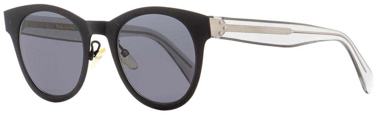f5f62c726588 Celine Oval Sunglasses CL41452S 807IR Matte Black Clear 49mm ...