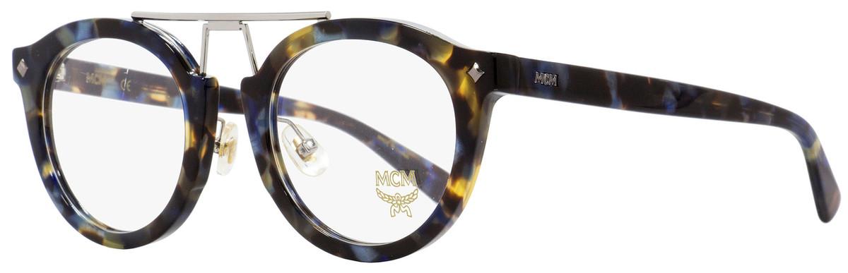 374627280e8f0 MCM Oval Eyeglasses MCM2642 235 Havana Blue Palladium 49mm ...