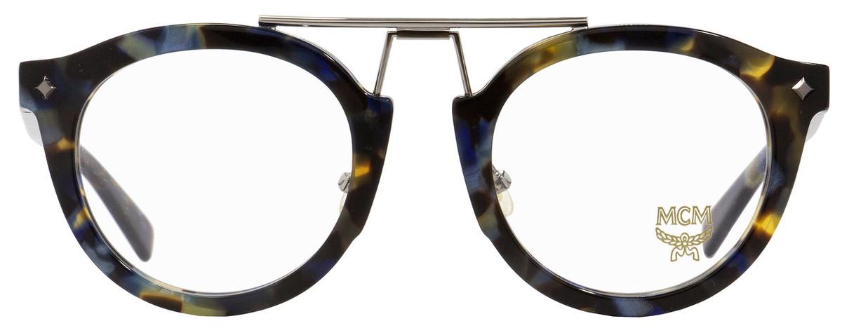 27710798cb3a6 MCM Oval Eyeglasses MCM2642 235 Havana Blue Palladium 49mm 2642