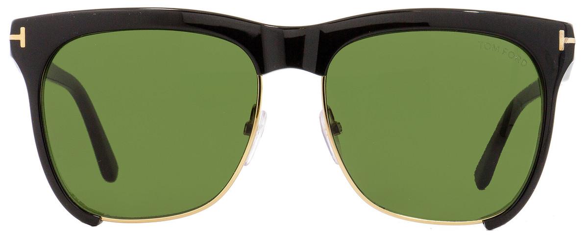 8ad540498b Tom Ford Square Sunglasses TF366 Thea 01G Black Gold 57mm FT0366