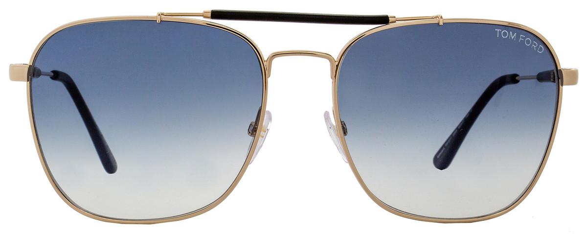 487c9b9d7a9 Tom Ford Square Sunglasses TF377 Edward 28W Rose Gold Matte Black 58mm  FT0377