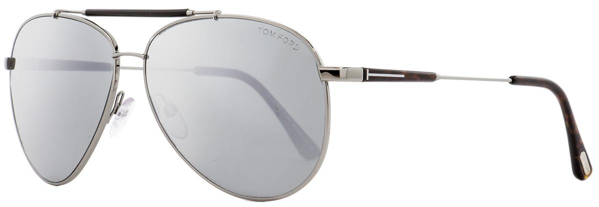 6cbe45229 Tom Ford Aviator Sunglasses TF378 Rick 14Q Ruthenium/Havana ...