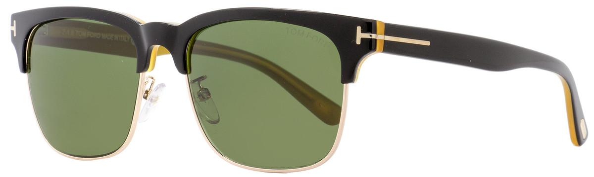 afc10e23bf Tom Ford Rectangular Sunglasses TF386 Louis 05N Black Gold Opal ...